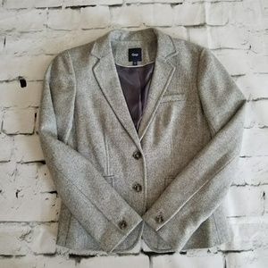 Gray wool herringbone GAP blazer, Size 4